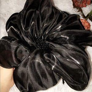 Accessories - Big Flower Black Headband
